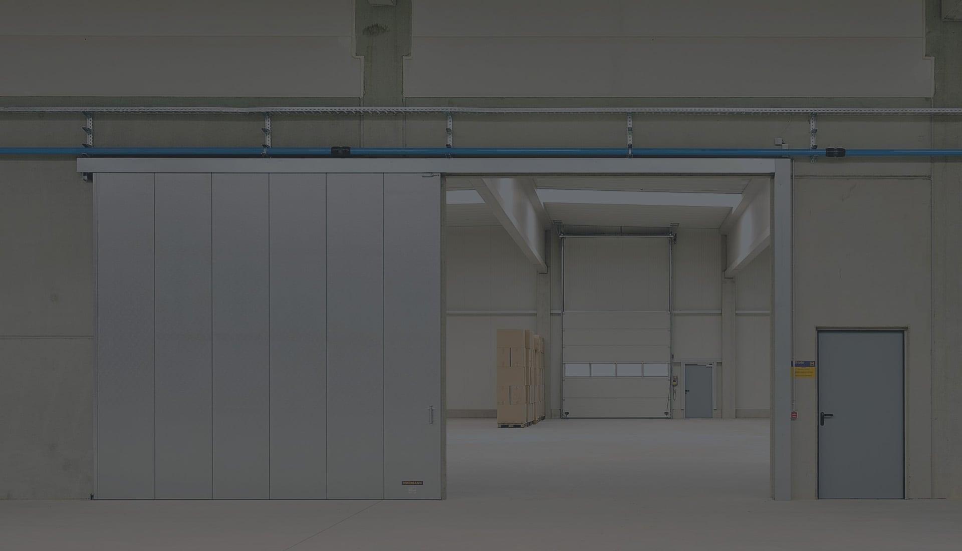 Монтаж автоматических раздвижных дверей